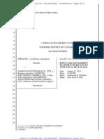13-08-14 Apple-Samsung 11cv1846 Joint Case Management Statement