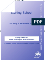 Primary School Admissions Information
