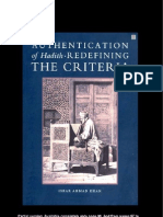 Authentificationofhadith Redefiningthecriteria Partial