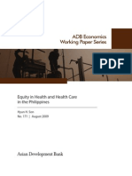 Equity in Health and Health Care in the Philippines