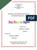 Say Maong Ya Ogaw-Module (Pangasinense)