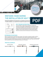 Mistakes made during the installation of heat tracing