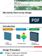 WLAN Microstrip Patch Array Design[1]