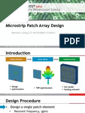 WLAN Microstrip Patch Array Design[1] | Antenna (Radio) | Microwave