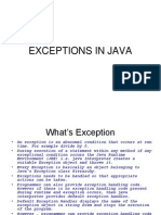 Lecture 19-20 (Exceptions in Java)