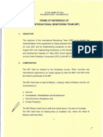 Terms of Reference of the International Monitoring Team