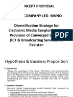 Business Model - Diversification Strategy for Electronic Media Conglomerate