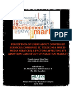 Research Report-User Perception and Factors Influencing Adoption of Converged ICT Services