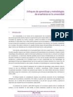 Enfoques de aprendizaje y metodologías de enseñanza en la universidad