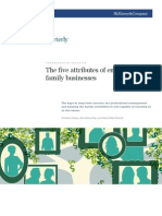 774897 the Five Attributes of Enduring Family Businesses