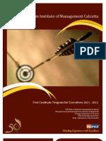 IIMC PGPEX 5 Short Brochure
