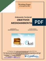 Ordenación Territorial. OBJETIVOS MEDIOAMBIENTALES (Es) Spatial Planning. ENVIRONMENTAL GOALS (En) Lurralde Antolaketa. INGURUGIRO HELBURUAK (Es)