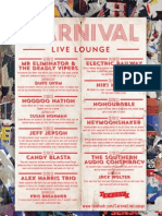 Carnival Live Lounge August Entertainment