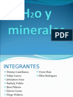 agua y minerales