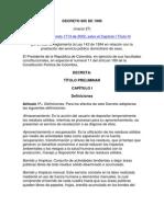 Decreto 605 de 1996