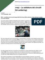 BGA (Ball Grid Array) - La Saldatura Dei Circuiti Integrati BGA (BGA Soldering)