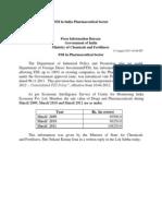 FDI in India Pharmaceutical Sector