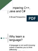 Comparing C++ Java And C#