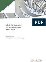Politik für Menschen mit Behinderungen. 2009 - 2013
