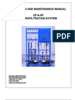 Con-serv 6 Gpm Uf System Operating Manual 7-28-11 Rev