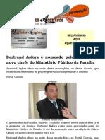 Bertrand Asfora é nomeado pelo governador novo chefe do Ministério Público da Paraíba