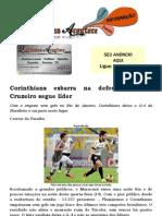 Corinthians esbarra na defesa do Flu; Cruzeiro segue líder
