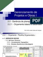 Cap. IID4 - Orçamento - Quantitativos