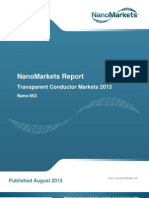"Chapter from the NanoMarkets report, ""Transparent Conductor Markets 2013"""