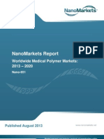 "Chapter from NanoMarkets' report, ""Worldwide Medical Polymer Markets"