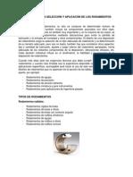 PRINCIPIOS PARA LA SELECCIÓN Y APLICACÓN DE LOS RODAMIENTOS