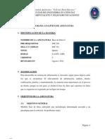 (INF312) Base  de  datos (PROGRAMA ANALÍTICO)