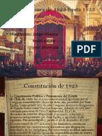 Constituciones de 1823 Hasta 1833
