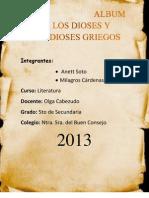 Album de Los Dioses y Semidioses Griegos