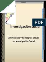Definiciones y Conceptos en Investigacion Social, Texto de Apoyo a SOC-127