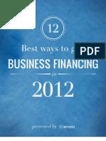 12 Best Ways to Get Business Financing