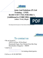 UNIX Basics for DBAs Student Copy