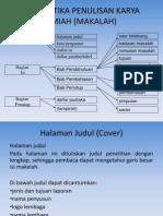 Sistematika Penulisan Karya Ilmiah (Makalah)