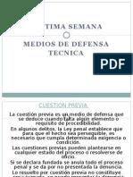 Medios de Defensa en el Procedimiento Penal (MP)