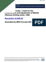 1989 MODU Code