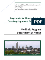 Payments for Death-Related One-Day Inpatient Admissions