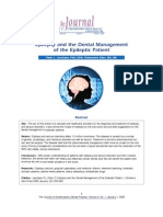 Epilepsy Dental Management Review J Contemp Dent Pract 2008