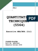 Assignment QT Col MBA Semester 1