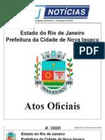 diario oficial de nova iguaçu de 14 de agosto de 2013.