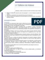 COLORANTES Y TEÑIDO DE FIBRAS
