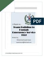 Team Building in Punjab Emergency Service 1122