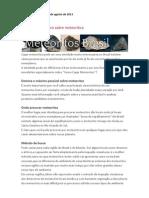 Newsletter Enviado 15 de Agosto de 2013
