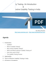 Tips for Effective Usability Testing in India