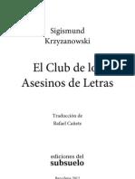 Cat a El Club Delos Asesinos de Letras