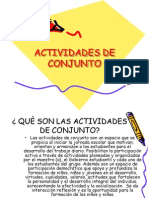 actividades de conjunto
