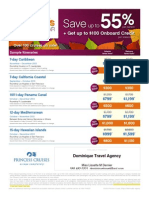 Fall Promotions Princes; Cunard; Holland Cruises.........
